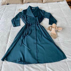 ✨ MM LaFleur Suzanne Button Down Dress w/ Tie